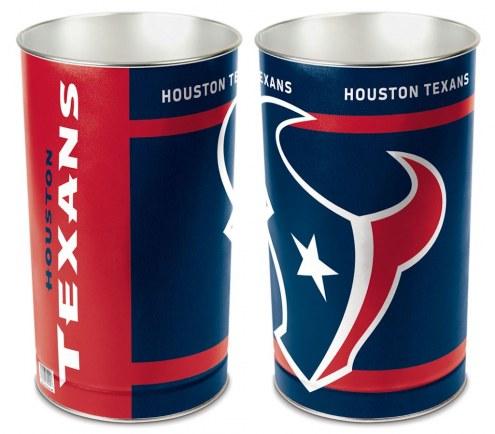 Houston Texans Metal Wastebasket