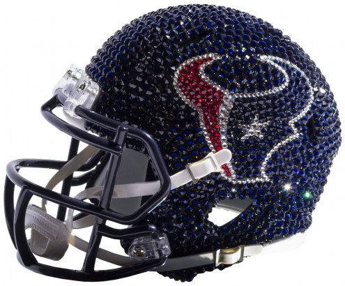 Houston Texans Mini Swarovski Crystal Football Helmet