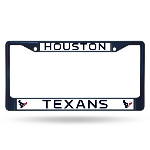 Houston Texans Navy Colored Chrome License Plate Frame