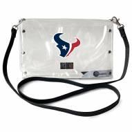 Houston Texans Clear Envelope Purse