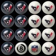 Houston Texans NFL Home vs. Away Pool Ball Set