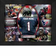 Houston Texans Personalized 11 x 14 Framed Action Collage