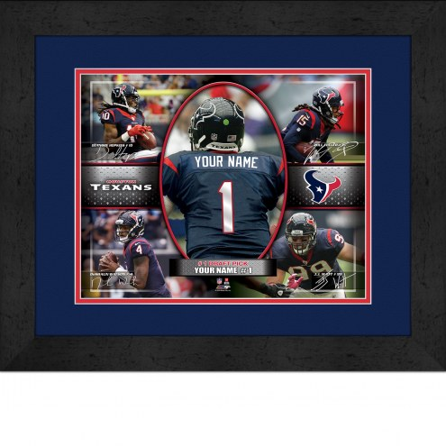 Houston Texans Personalized 13 x 16 Framed Action Collage