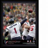 Houston Texans Personalized 11 x 14 NFL Action QB Framed Print