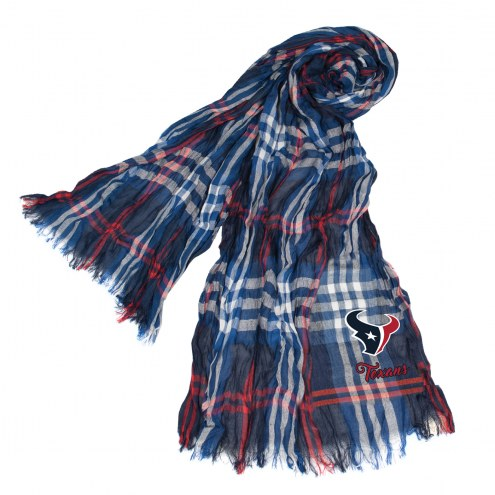 Houston Texans Plaid Crinkle Scarf