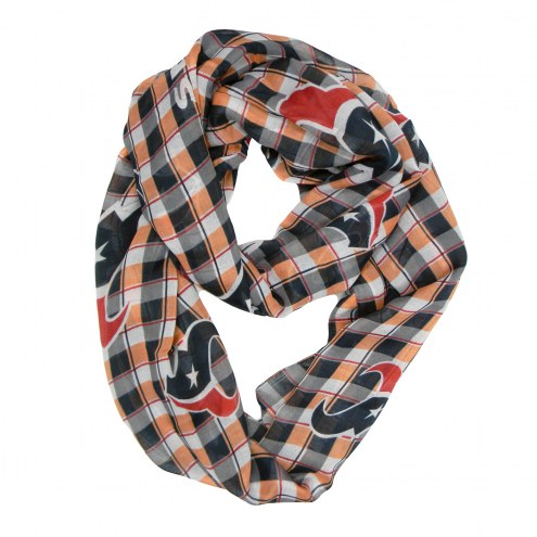 Houston Texans Plaid Sheer Infinity Scarf