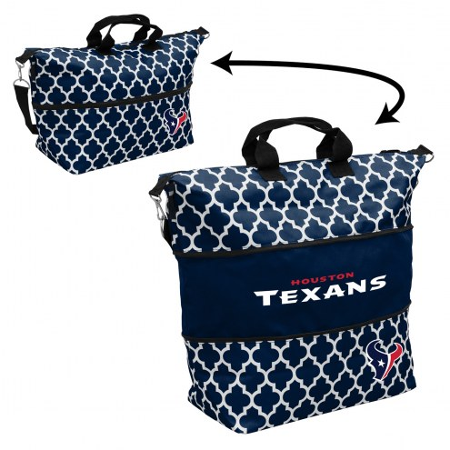 Houston Texans Quatrefoil Expandable Tote