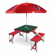 Houston Texans Red Picnic Table w/Umbrella
