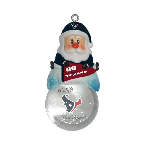Houston Texans Santa Snow Globe Ornament