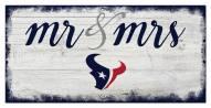 Houston Texans Script Mr. & Mrs. Sign