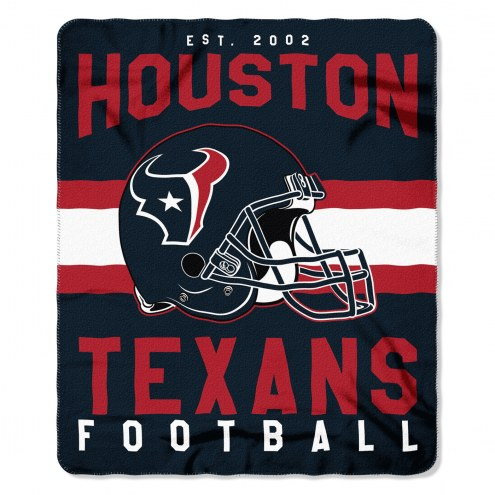 Houston Texans Singular Fleece Blanket