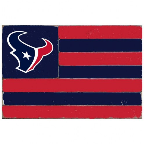 Houston Texans Small Flag Wall Art