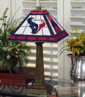 Houston Texans Stained Glass Mission Table Lamp
