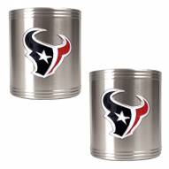 Houston Texans Stainless Steel Can Coozie Set