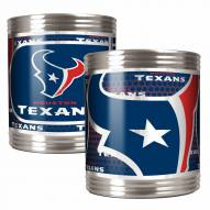 Houston Texans Stainless Steel Hi-Def Coozie Set