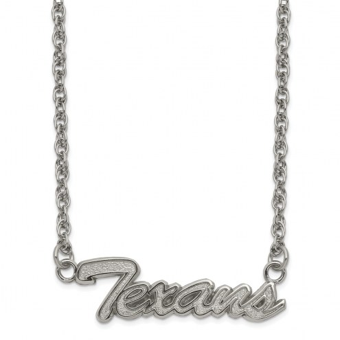 Houston Texans Stainless Steel Script Necklace
