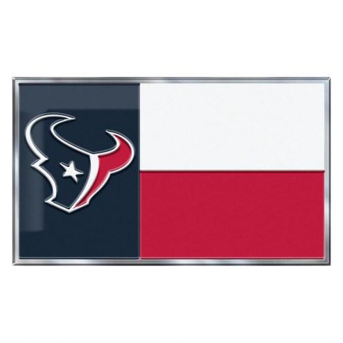 Houston Texans State Flag Car Emblem