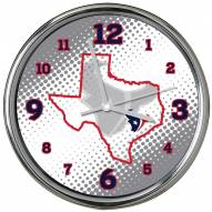 Houston Texans State of Mind Chrome Clock