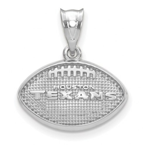 Houston Texans Sterling Silver Football with Logo Pendant