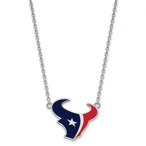 Houston Texans Sterling Silver Large Pendant Necklace