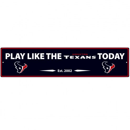 Houston Texans Street Sign Wall Plaque