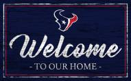 Houston Texans Team Color Welcome Sign