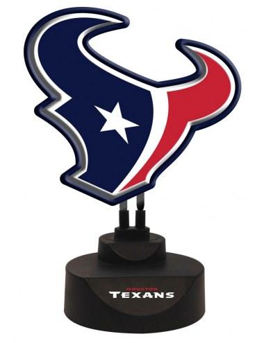 Houston Texans Team Logo Neon Light