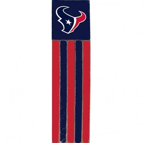 Houston Texans Vertical Flag Wall Sign