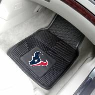 Houston Texans Vinyl 2-Piece Car Floor Mats