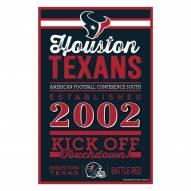 Houston Texans Established Wood Sign