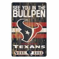 Houston Texans Slogan Wood Sign