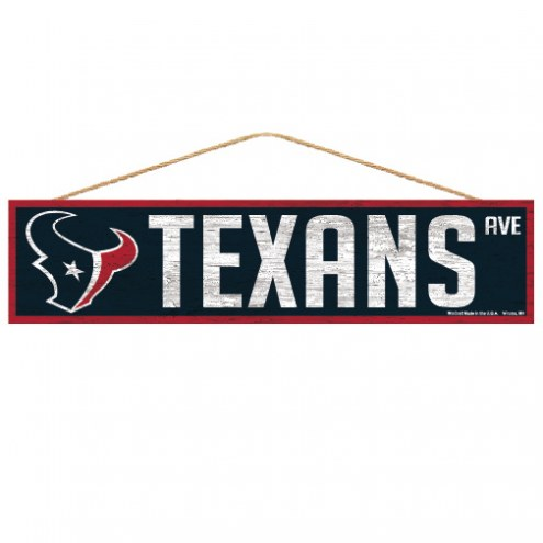 Houston Texans Wood Avenue Sign