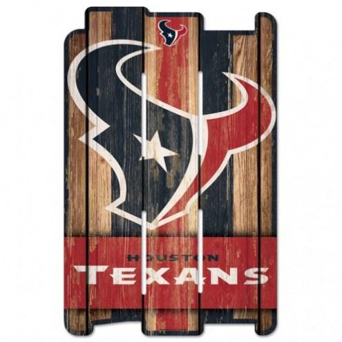 Houston Texans Wood Fence Sign