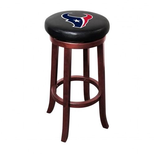 Houston Texans Wooden Bar Stool