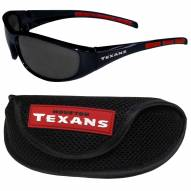 Houston Texans Wrap Sunglasses and Case Set