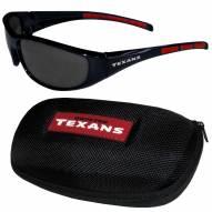 Houston Texans Wrap Sunglasses and Case Set