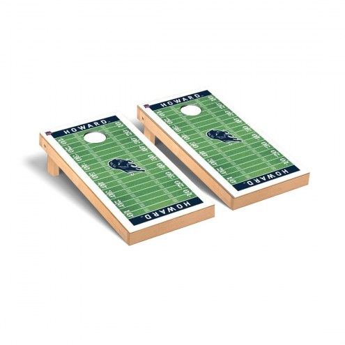 Howard Bison Football Field Cornhole Game Set
