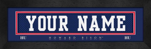 Howard Bison Personalized Stitched Jersey Print