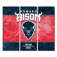 Howard Bison Triptych Double Border Canvas Wall Art