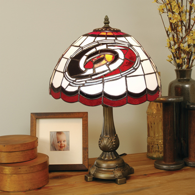 Carolina Hurricanes NHL Stained Glass Table Lamp