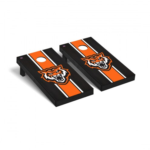 Idaho State Bengals Onyx Stained Cornhole Game Set