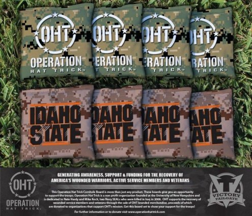 Idaho State Bengals Operation Hat Trick Cornhole Bag Set