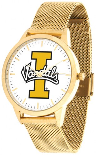 Idaho Vandals Gold Mesh Statement Watch