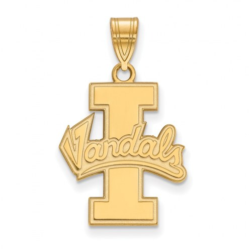 Idaho Vandals NCAA Sterling Silver Gold Plated Large Pendant