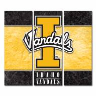 Idaho Vandals Triptych Double Border Canvas Wall Art