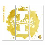 Idaho Vandals Triptych Watercolor Canvas Wall Art