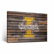 Idaho Vandals Weathered Canvas Wall Art
