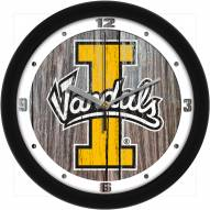 Idaho Vandals Weathered Wood Wall Clock