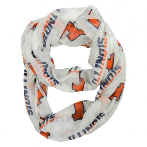 Illini Fighting Illini Sheer Infinity Scarf