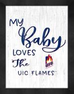 Illinois-Chicago Flames My Baby Loves Framed Print